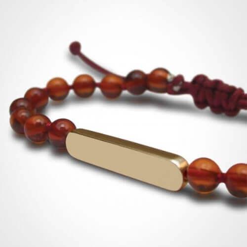 Mikado : bracelet Maracas Ambre (or jaune)
