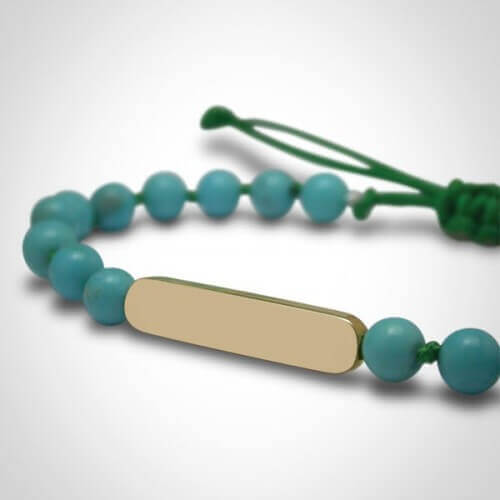 Mikado : bracelet Maracas Turquoise (or jaune)