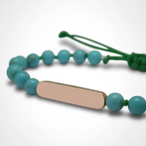 Mikado : bracelet Maracas Turquoise (or rose)
