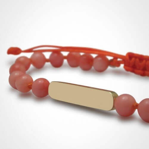 Mikado : bracelet Maracas Corail (or jaune)