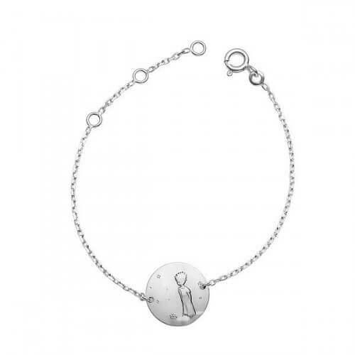 La Monnaie de Paris : bracelet chaîne Petit Prince dans les étoiles (argent)