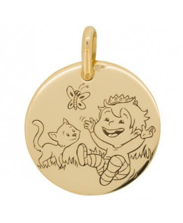 La Fée Galipette : médaille Blagueur Nature or jaune 18 carats