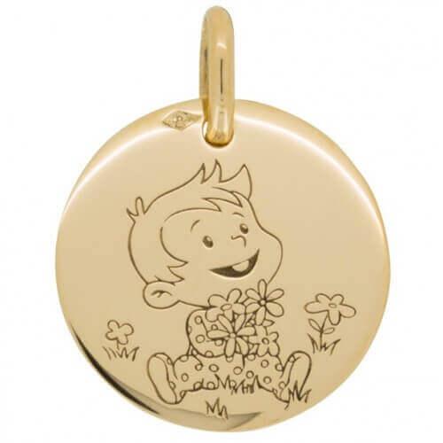 La Fée Galipette : médaille Rêveur Nature or jaune 18 carats