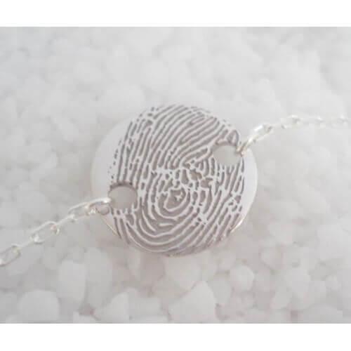 Les Empreintes : supplément bracelet chaîne (argent)