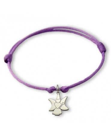 Daddo : bracelet Little Féeric fée lune (or blanc)