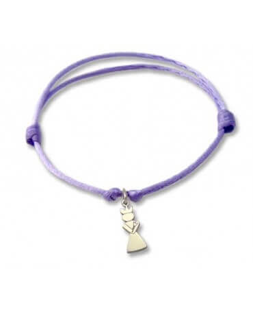 Daddo : bracelet Little Féeric Princesse (or blanc)