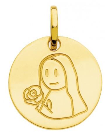 Pendentif zodiaque signe Vierge (or jaune)