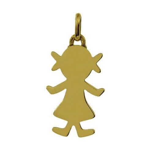 Augis : pendentif Petit Trésor fille or jaune 18 carats (20 mm)