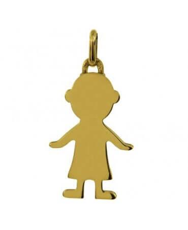 Augis : pendentif Petit Trésor garçon or jaune 18 carats (20 mm)