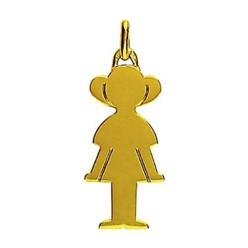 Augis : pendentif Petit Trésor fille or jaune 18 carats (25 mm)