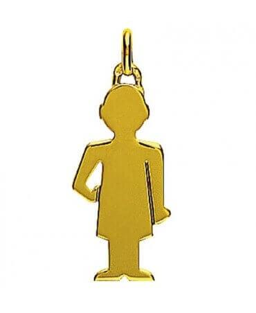 Augis : pendentif Petit Trésor garçon or jaune 18 carats (25 mm)