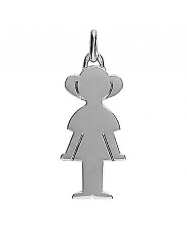 Augis : pendentif Petit Trésor fille or blanc 18 carats (25 mm)