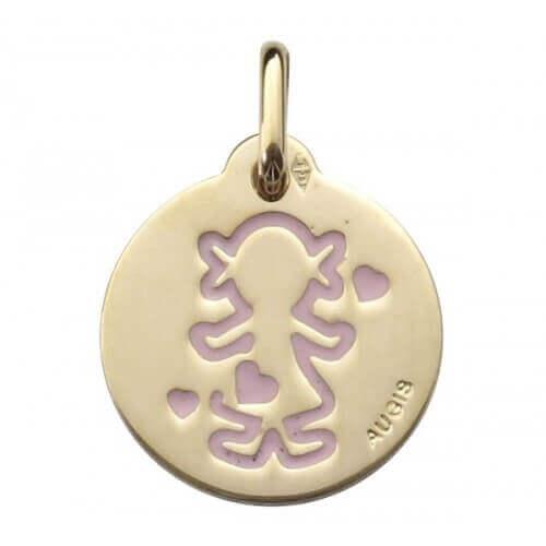 Augis : médaille Trésor fille or jaune (14 mm)