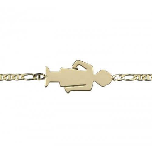 Augis : bracelet de naissance garçon or jaune