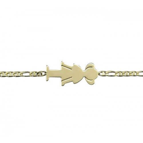 Augis : bracelet de naissance fille or jaune