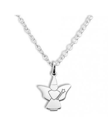 Daddo : pendentif fée papillon (argent)