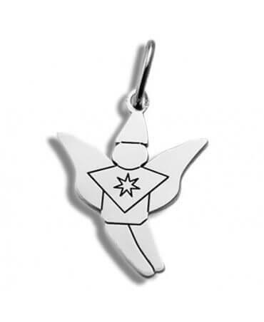 Daddo : pendentif elfe (or blanc)