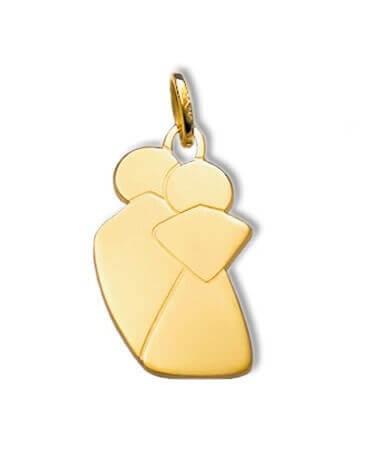 Pendentif Lovers (or jaune)
