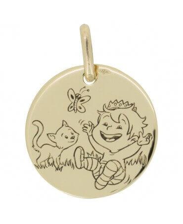 La Fée Galipette : médaille Blagueur Nature or jaune 9 carats