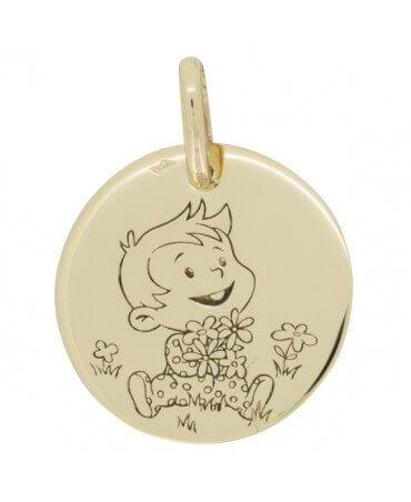 La Fée Galipette : médaille Rêveur Nature or jaune 9 carats