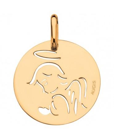 Augis : médaille ange ajouré or jaune 18 carats