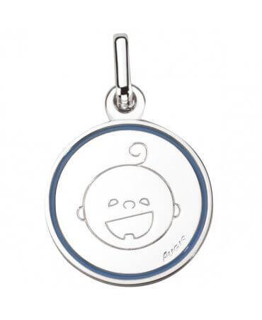 Augis : médaille garçon Les Petites Bouilles (or blanc)