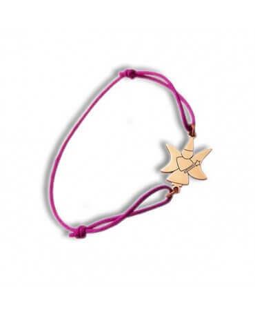 Daddo : bracelet cordon fée lune (or rose)