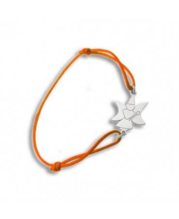 Daddo : bracelet cordon fée lune (or blanc)