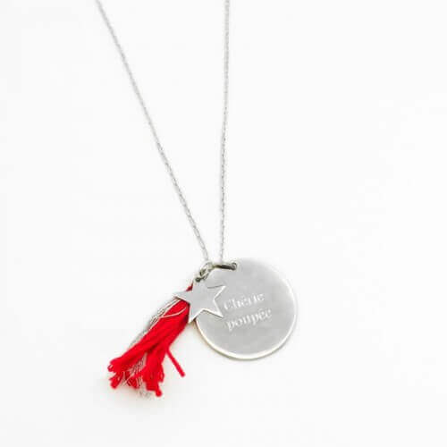 Petits Trésors : sautoir Boréal Rouge (argent)