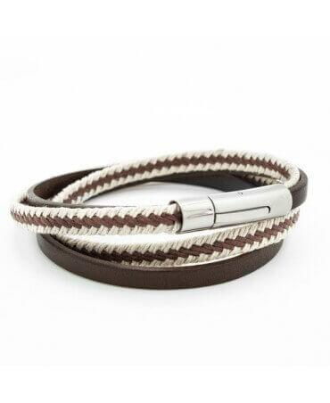 Petits Trésors : bracelet cuir homme Le Marin