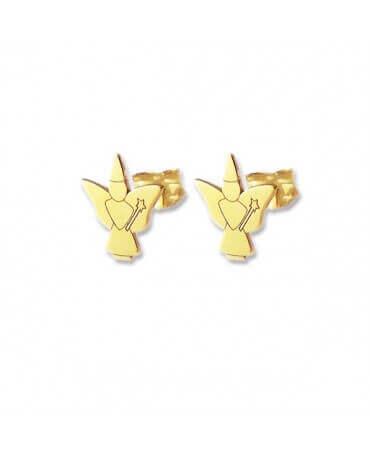 Daddo : boucles d'oreilles bébé papillon (or jaune)