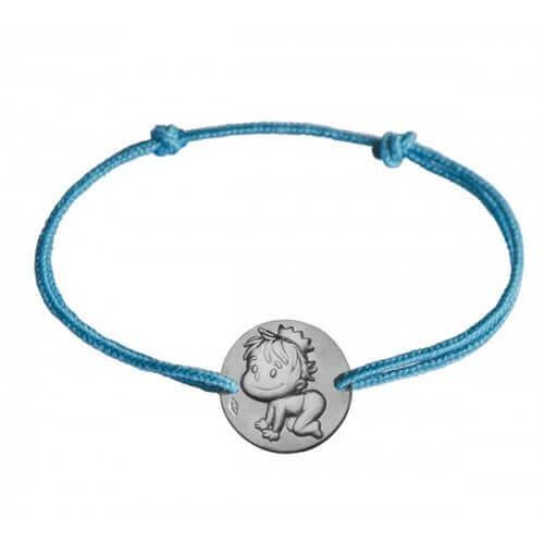 La fée galipette : bracelet cordon Blagueur argent