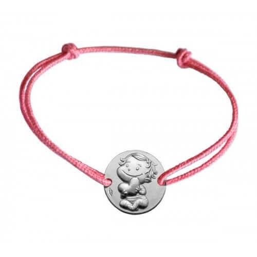 La Fée Galipette : bracelet médaille câline argent