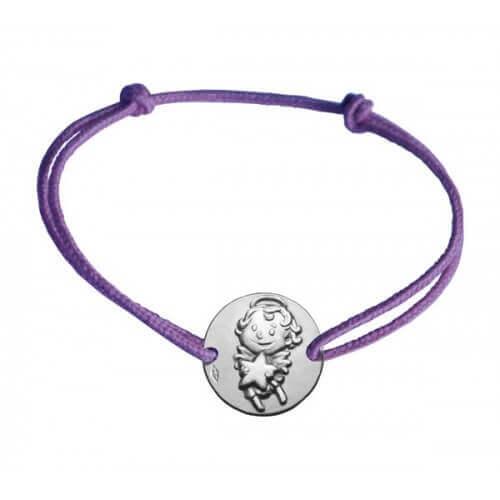 La Fée Galipette : bracelet médaille maline argent