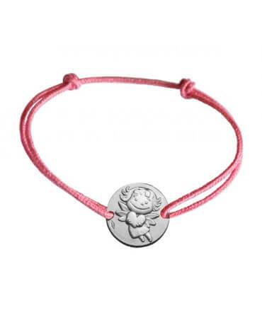 La Fée Galipette : bracelet médaille précieuse argent