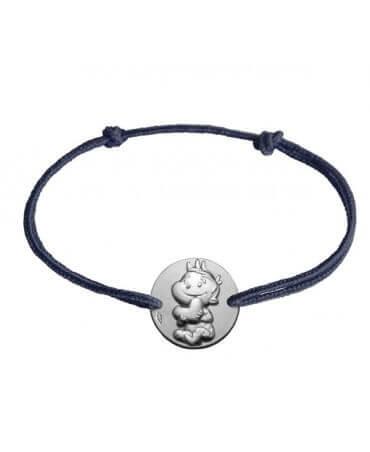 La Fée Galipette : bracelet cordon Rêveur argent