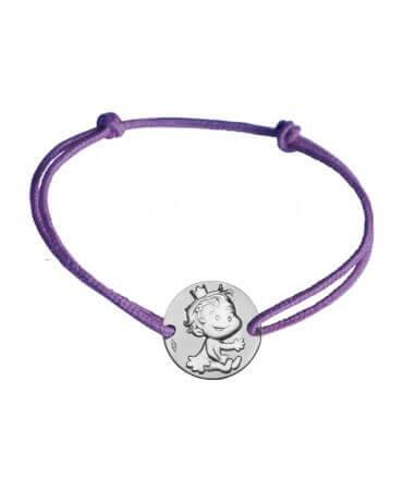 La Fée Galipette : bracelet médaille curieuse argent
