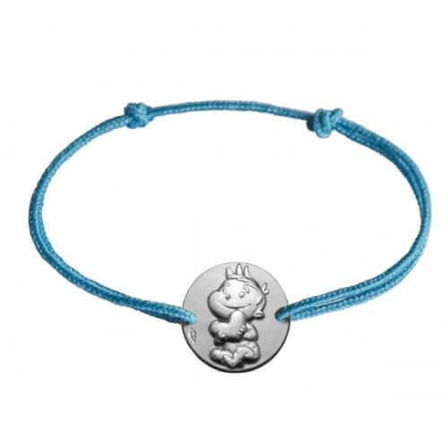 La Fée Galipette : bracelet médaille rêveur or blanc