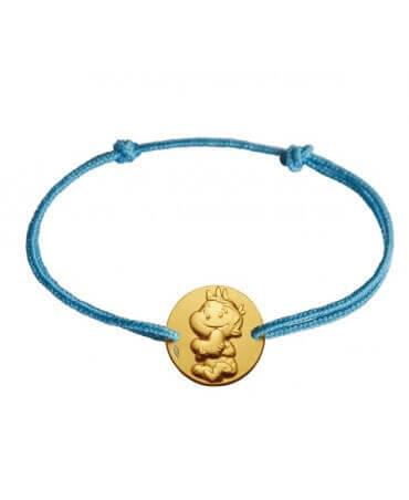 La Fée Galipette : bracelet cordon Rêveur or jaune