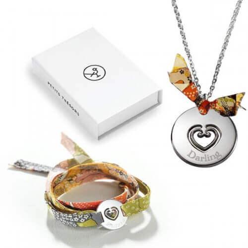 coffret duo maman fille collier et bracelet bijoux personnalis s petits tr sors. Black Bedroom Furniture Sets. Home Design Ideas