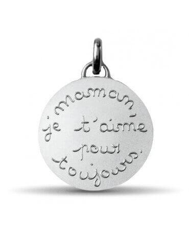 Monnaie de Paris : pendentif Maman je t'aime pour toujours (argent)