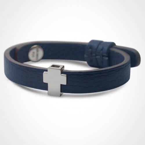 Mikado : bracelet Gospel croix argent