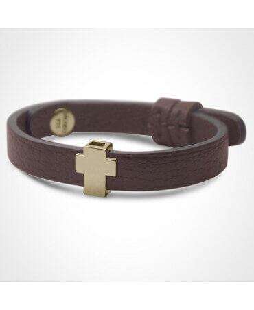 Mikado : bracelet Gospel croix or jaune