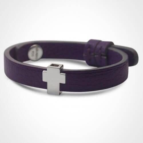 Mikado : bracelet Gospel croix or blanc