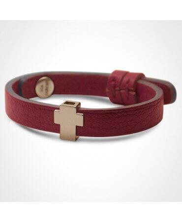 Mikado : bracelet Gospel croix or rose