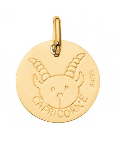 Augis : médaille capricorne or jaune