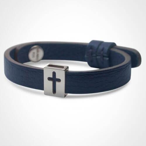 Mikado : bracelet croix Hallelujah (argent)