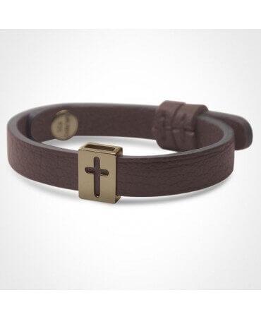 Mikado : bracelet croix Hallelujah (or jaune)