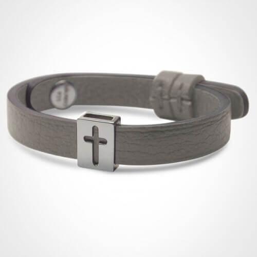 Mikado : bracelet croix Hallelujah (or blanc)
