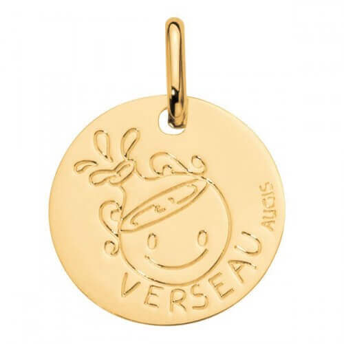 Augis : médaille verseau or jaune